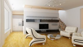 Modern home interior Royalty Free Stock Photography