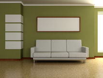 Modern home interior 3d Stock Image