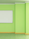 Modern home interior with painting. 3D. Royalty Free Stock Photo