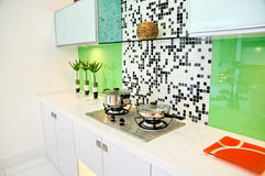 Modern home kitchen stock images