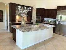 Modern Home Kitchen Center Island. royalty free stock image