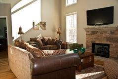 Modern Home Living Area Royalty Free Stock Photo