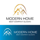 Modern home logo vector. This is modern home logo vector Royalty Free Stock Images