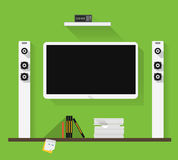Modern home media entertainment system Royalty Free Stock Image