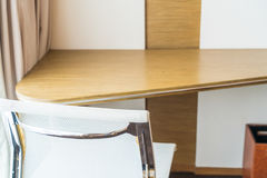 Modern home office chair and desk. . Modern home office chair and desk Royalty Free Stock Image