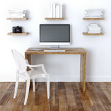 Modern Home Office Interior Design With Bookshelve Royalty Free Stock Images