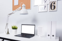 Modern home office notebook laptop computer Royalty Free Stock Photography