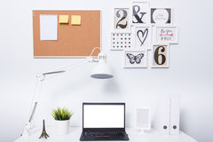 Modern home office notebook laptop computer Stock Photography