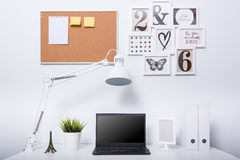 Modern home office notebook laptop computer Royalty Free Stock Image