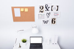 Modern home office notebook laptop computer Stock Image