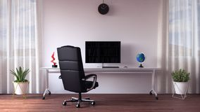 Modern home office work space Stock Photo