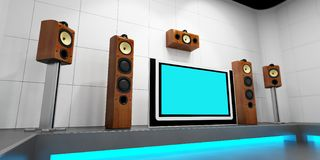 Modern home theater Stock Photography