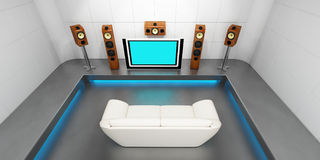 Modern home theater Stock Images