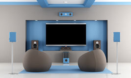 Modern home theater Royalty Free Stock Images