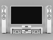 Modern home theater Royalty Free Stock Photos