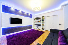 Modern home theater interior Royalty Free Stock Image