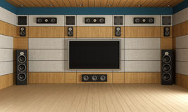Modern  home theater room Stock Image