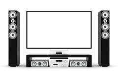 Modern home theater Stock Photos