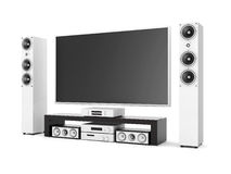 Modern home theater Royalty Free Stock Photo