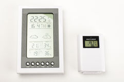 Modern home weather station isolated Stock Photos