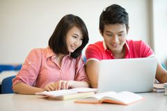 Modern homework doers Royalty Free Stock Images