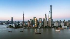 Modern horisont av shanghai Fotografering för Bildbyråer