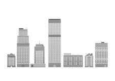 Modern horisont för metropolisstadsskyskrapor Royaltyfri Fotografi