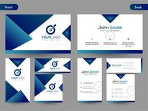 Horizontal business card with front and back presentation. Modern Horizontal business card with front and back presentation Stock Images