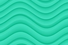 Modern horizontal teal blue abstract wavy curves wallpaper background Stock Photos