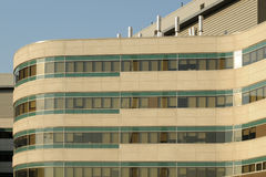 Modern Hospital Building. Section of a modern hospital building stock image