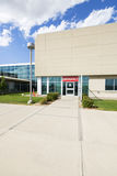 Modern Hospital Building With Emergency Entrance Stock Photo