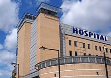 Modern hospital building Royalty Free Stock Image