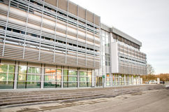 Modern hospital clinic building exterior Stock Photos