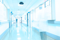 Modern hospital corridor Stock Photos