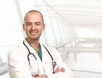 Modern hospital and doctor Stock Photo