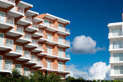 Modern hotel, architectural details Stock Image
