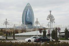 Modern hotel in Ashgabat, Turkmenistan royalty-vrije stock foto