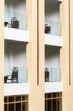 Modern hotel balcony Stock Image