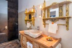 Modern hotel bathroom Royalty Free Stock Image