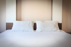 Modern hotel bedroom interior design Royalty Free Stock Photo