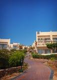 Modern Hotel building park, Sharm el Sheikh, Egypt Royalty Free Stock Image