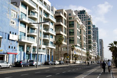 Modern hotel and business center in Tel-Aviv Royalty Free Stock Photos