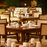 Modern hotel cafetia table Stock Images