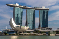 Modern hotel and casino Marina Bay Royalty Free Stock Images