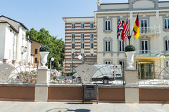 Modern hotel in city #5. Salsomaggiore Royalty Free Stock Image