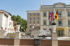 Modern hotel in city #6. Salsomaggiore Royalty Free Stock Photo