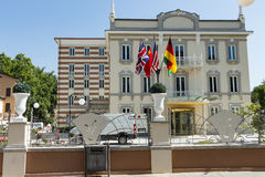 Modern hotel in city #7. Salsomaggiore in Italy Royalty Free Stock Image