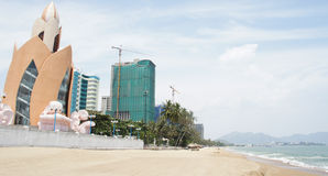 Modern hotel complex at Nha Trang beach, Vietnam Royalty Free Stock Images