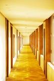 Modern hotel corridor Stock Photos