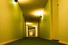 Modern Hotel Corridor Stock Photography